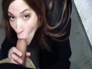 Oral sex video in a public place outdoor